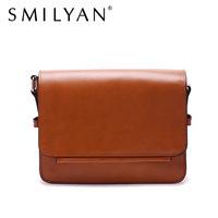 Smilyan women messenger bag women handbag fashion genuine leather bag portable shoulder bag cross-body bolsas women leather bag