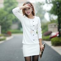 Casual Dress 2014 Winter Women Dress Long Vestidos Party Dresses Plus Size Women Evening Slim Knitted Dress LJ047DB