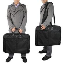 62.2*48.3*8.9 CM 2014 New Men's Suit Tote Garment Storage Bag Men Women Black Multi Function Uniform Business Travel Bags(China (Mainland))