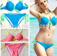 Hot Sale Sexy Print High Waisted Bikinis Set Bikini Push Up Bandage Beach Swimwear Women Swimsuit Trikini Bathing Suit  BK09