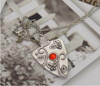 The Vampire Diaries Garnet Necklace Bonnie Bennet Family Amulet Necklace