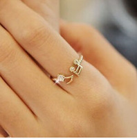 Free Shipping 2014 New Fashion Vintage Korean Notes Adjustable Size Ring 3g Jewelry Min order is $10(mix order)