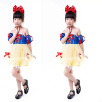2014 new Girls Snow White stage clothing cosplay costumes Halloween candy-colored Children's kid's Dress free shipping