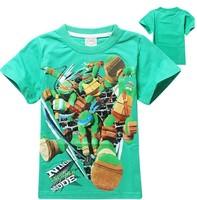 Hot boys Teenage Mutant Ninja Turtles t-shirts kids summer printed leisure tees tops children's cotton t shirts 2 colors