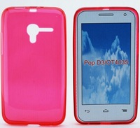 Free DHL Shipping TPU Soft Jelly Case For Alcatel One Touch Pop D3 4035 4037A Cover