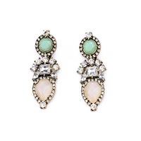 2014 Fashion Jewelry Full Rhinestone Big Flower Dangle Earrings Wholesale Multilayer Water Drop Earrings  brincos JLE028