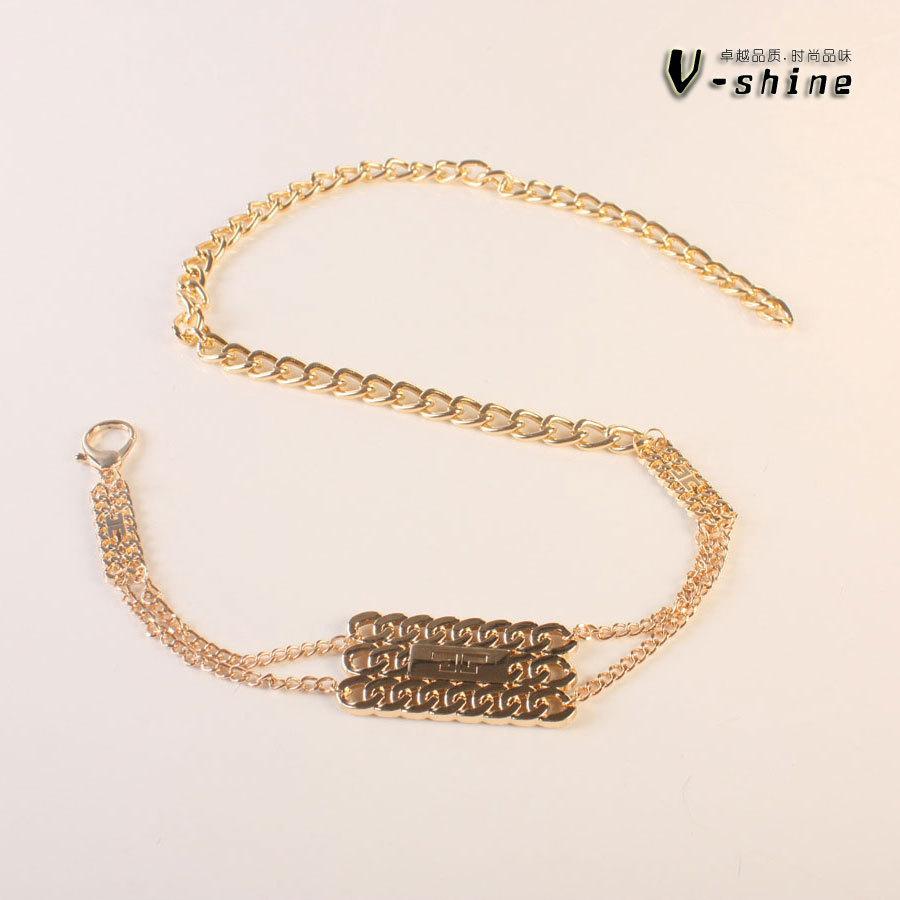 2014 Fashion tassels High-grade alloy Buckle Women's metal waist chain(China (Mainland))