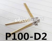Free shipping 50Pcs P100-D2 Dia 1.36mm 180g Spring Test Probe Pogo Pin