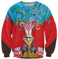 King poker 3D Red Cartoon women pullovers 2014 Winter Warm Sexy Casual Women Tracksuits Sport Shirt