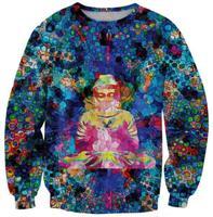 Colorful blue man print women hoody 2014 Warm Women 3D Sweatshirt O Round Collar Sleeve Pullovers