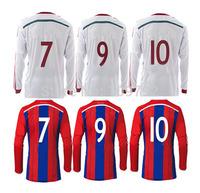 2015 long sleeve #10 ROBBEN #7 RIBERY soccer jersey 14 15 red white long sleeve GOTZE MULLER LAHM Lewandowski Football shirt