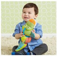 SKP Cute Soft Safari Twist and Smile Animal Plush Ring Baby Infant Toy Dolls sounding rattle rotatable toys - Crocodile