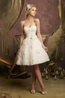 Short Wedding party Dress 2015 Knee -Length Wedding Dress Sweetheart  Bridal Dress Girls Dresses for Wedding