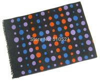 2014 winter thick 100% silk raised scarf  men / multi candy ball scarf /  fringe men pashmina silk Christmas gift  free shipping