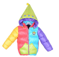 christmas children's outerwear baby boys girls winter cotton coat and jackets clown style kids snowsuit winter jacket for girls