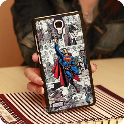 Superheros Comics Superman Slim Custom Hard Mobile Phone Cases For Xiaomi Miui Hongmi Red Rice Note Redmi Case Cover Free Gift(China (Mainland))