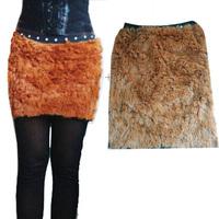 2015 women and girls faux rabbit fur skirt mini skirt girl skirts autumn winter spring outerwear free shipping pink black brown