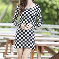 Free shipping Elegant Fashion plus size autumn long sleeve dress dot winter dress