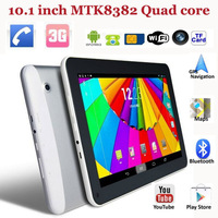 "10.1"" MTK8382 quad core 3G phablet 1G/8G 1024*600 capacitive touchscreen Dual camera Wi Fi Bluetooth GPS 3G phone call tablets"