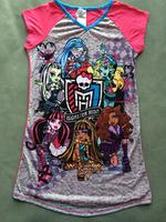 free shipping baby clothing girl girls short sleeve monster high nighities sleepwear night dress