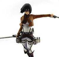"""Attack On Titan Mikasa Ackerman 4.7"""" / 12cm PVC Figure New In Box"""