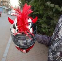 new Motorcycle helmet ornament Punk hair / Roman knight cherry / explosive head  helmet ornament