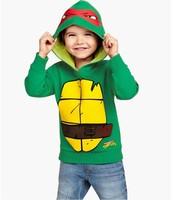 Teenage Mutant Ninja Turtles winter clothing Children's Hoodies Sweatshirts cartoon hip hop costume child Christmas gifts