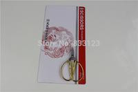 "NEW HOT !! 5Pcs Scissors Gold Plated Dragon Phoenix Sharp Scissors 3.3"" Inch Tailor scissors, hair clipper gift free shipping"