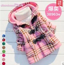 Бесплатная доставка 2014 новый зима мальчиков и девочек кардиган куртка дети геометрические принцесса теплое зимнее пальто