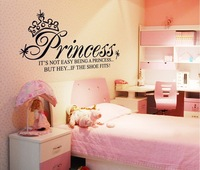Crown letters wall stickers DIY Decoration removable Parlor Bedroom Stairs Hotels Lounge decor NC5208