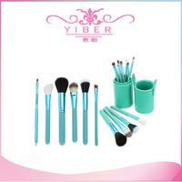 Professional makeup brush set 12pcs/Set Pro Cosmetic Makeup Brushes Set Facial Make up Tool Green