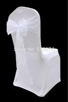50pcs new design fashion white free shipping lace chair sash/chair sash/chair sash bow ,Wedding christmas party Decoration,HQ
