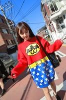 2015 Batman, Superman and Justice League series cashmere long sweater hoodies women