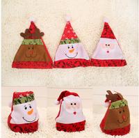 New Year 3 style Snow Men Deer Santa Claus Christmas Cap Hat
