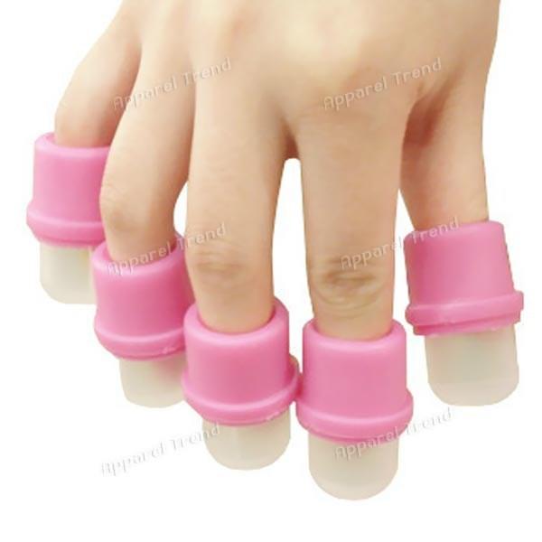 10 x Wearable nagel soakers polieren entferner kappe nail art werkzeug für acryl nagel versandkostenfrei