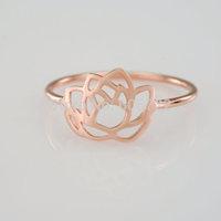 Wholesale Gold Silver 30pcs/lot Gold Lotus Flower ring Anel de Formatura Women Statement Ring