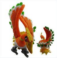 Japan Anime POKEMON Hooh Ho-Oh Bird Pikachu Soft Plush Toy Stuffed Animal Doll