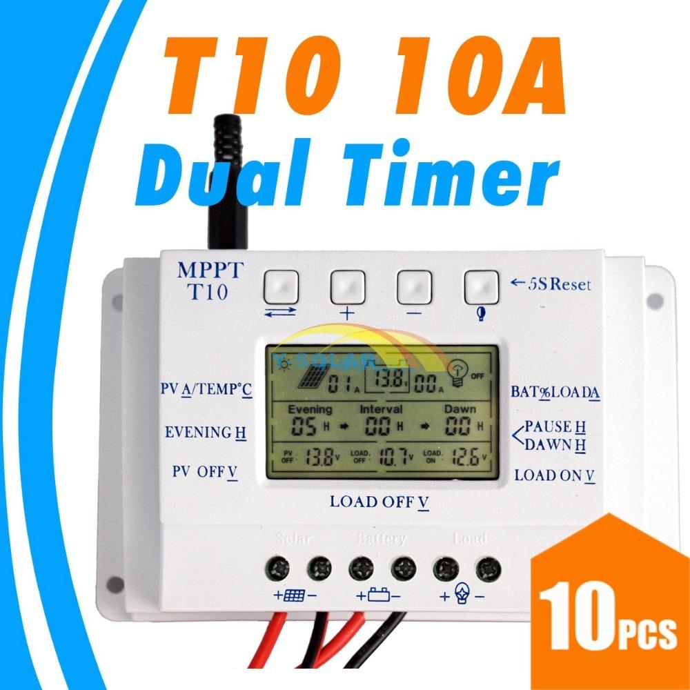 Солнечный контроллер Y-SOLAR 10 10 T10 12V 24V LCD