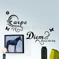The English proverb wall stickers Carpe Diem Adesivo De Parede 50*87 P3