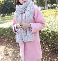 Fashion Korean Winter Women Men Braided Knit Wool Long Scarf Wrap Shawl Scarves