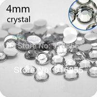 Free shipping Wholesale Fashion SS16 4mm 10000pcs crystal/clear flatback Resin rhinestones,nail art  rhinestones for DIY deco
