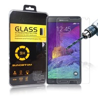 free shipping Ultra-Thin high quality screen glass protector Tempered Glass for Samsung Galaxy Note 4