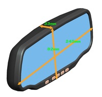 5inch Capacity Car Rear view Mirror GPS 800*480 touch screen+HD 1080p DVR+ radar detector+bluetooth+8GB All-In-One+free shipping