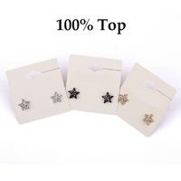 Min Order 9$! Full Rhinestone Crystal Paved Cute Star Earrings Studs Girls Jewelry Wholesale