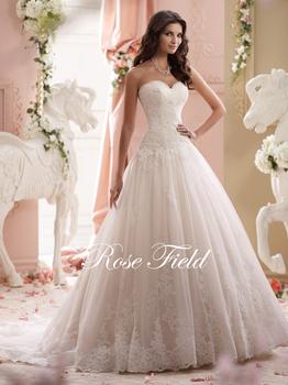 Sl-020992 элегантный милая аппликация кружева свадебное платье 2015