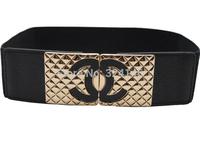 2014 cheap Black Elasticity width belts elegance luxury crystl girdle women belt fashion paper tapes wholesale