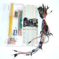 3.3V/5V Breadboard power module+MB-102 830 points Bread board kit +65 Flexible jumper wires+140pcs jumper wire box for arduino