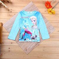 retail Summer Girls Frozen dresses Kids Frozen Elsa's dress Baby Anna's Printed night dress Casual Clothing