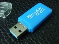 300pcs/lot2.0 usb card reader for micro sd card tf usb sd card reader free shipping