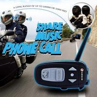 Single Pack Motorcycle Helmet Bluetooth Intercom Headsets FM Radio Wireless Interphone 1000M up to 4 Persons